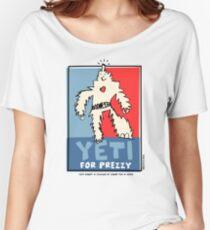 Yeti For Prezzy Retro President Election Comic Robot Monster Design Women's Relaxed Fit T-Shirt