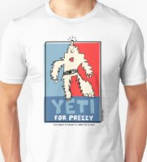 Yeti For Prezzy Retro President Election Comic Robot Monster Design Unisex T-Shirt