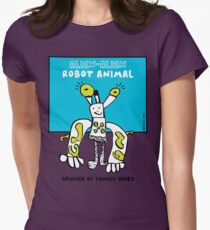Alien-Alien Robot Animal Comic Monster Design Womens Fitted T-Shirt