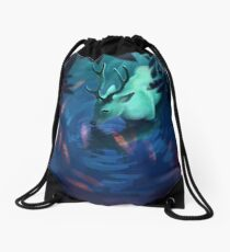 Mystic Deer Drawstring Bag