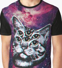Psychedelic Cat (3D vintage effect) Graphic T-Shirt