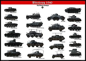 tanks posters - Blitzkrieg, German tanks 1939
