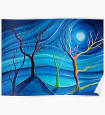 Trees in blue space  Poster