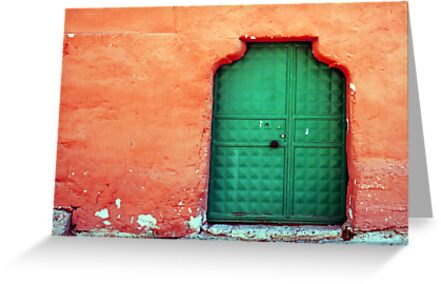 Door In Orange by Josh Wentz