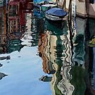 Deep reflections, Venice by Freda Surgenor