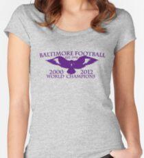 BALTIMORE FOOTBALL T-SHIRT Women's Fitted Scoop T-Shirt