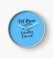 Reloj Pet Rescue Adopt Volunteer Educate