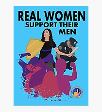 Real Women Fight Back: Law Enforcement Photographic Print