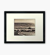sepia shores Framed Print