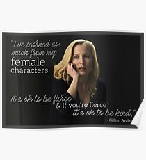 Gillian Anderson Female Characters Quote Poster