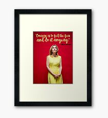 Gillian Anderson Quote - Courage Framed Print