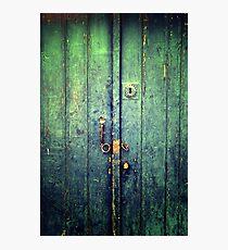 Blue Door In Avanos Photographic Print