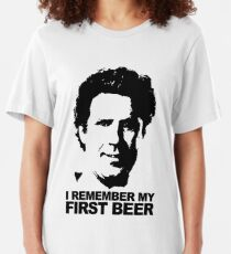I Remember My First Beer - Brennan Slim Fit T-Shirt