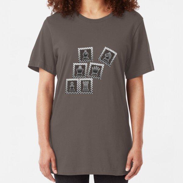 Chess - Black borders toppling Slim Fit T-Shirt