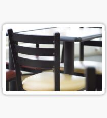 Defocused and blurred image of the interior of the cafe Sticker