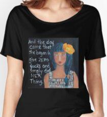 """Zero F*cks"" Women's Relaxed Fit T-Shirt"