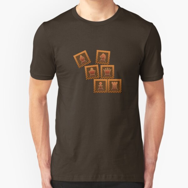 Chess - Brown borders toppling Slim Fit T-Shirt