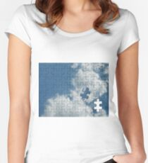 Piece of the Sky Women's Fitted Scoop T-Shirt