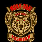 Muay Thai Fighter Shield - Thailand Martial Art by lu2k