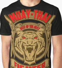 Muay Thai Fighter Shield - Thailand Martial Art Graphic T-Shirt