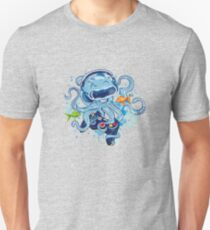 Octopus With Gamepad And Vr Goggles Unisex T-Shirt