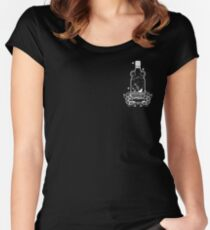 FLOAT OR DROWN CREST PRINT Women's Fitted Scoop T-Shirt