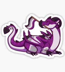 Asexual Pride Flag Dragon Sticker