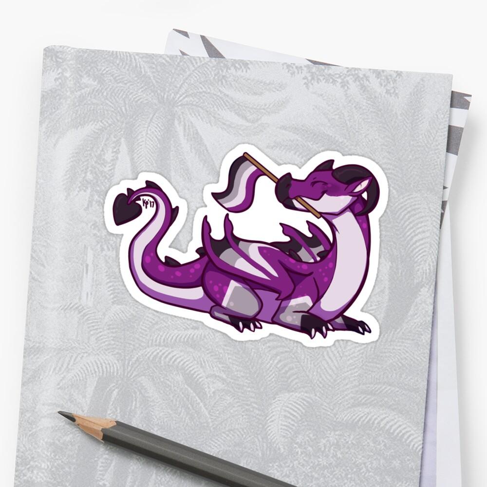 Asexual Pride Flag Dragon (1st Edition) Sticker