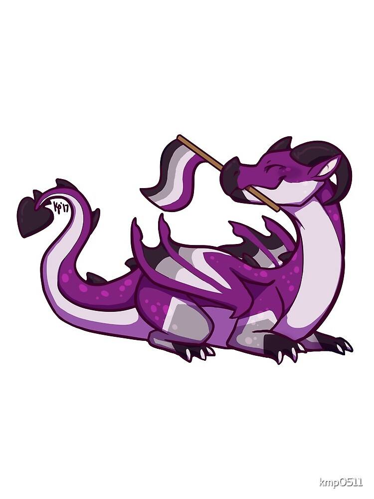 Asexual Pride Flag Dragon (1st Edition) by kmp0511