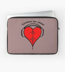 Listen to your heart! Laptop Sleeve