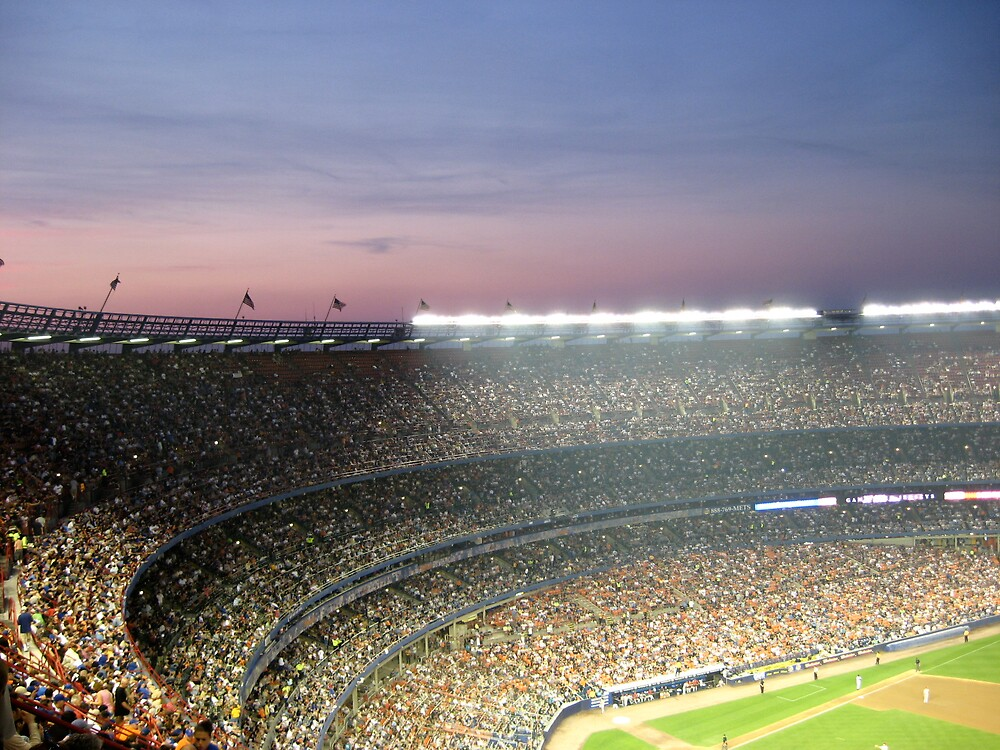 mets game at sunset by alexandreajane