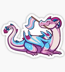 Transgender Pride Flag Dragon Sticker