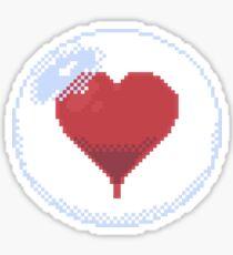 Pixel Heart in a bubble Sticker