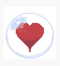 Pixel Heart in a bubble Photographic Print