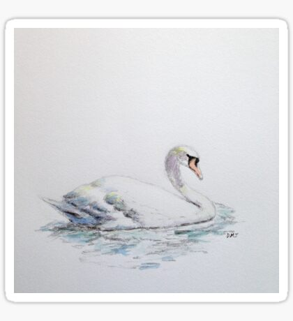 Swan upon the water Sticker