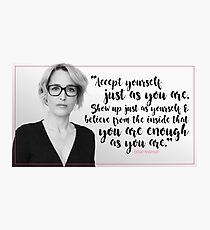 Gillian Anderson Quote - Accept Yourself Photographic Print