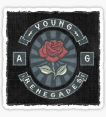 AG Last Young Renegade Back Sticker