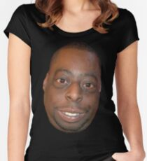 Beetlejuice Head Lester Green Women's Fitted Scoop T-Shirt