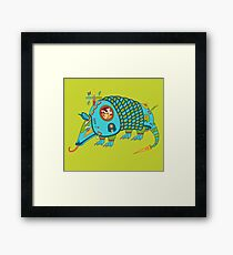 Armadillo, from the AlphaPod collection Framed Print