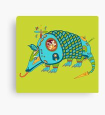 Armadillo, from the AlphaPod collection Canvas Print