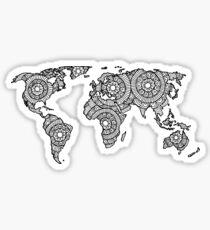 Mandala World Map Sticker