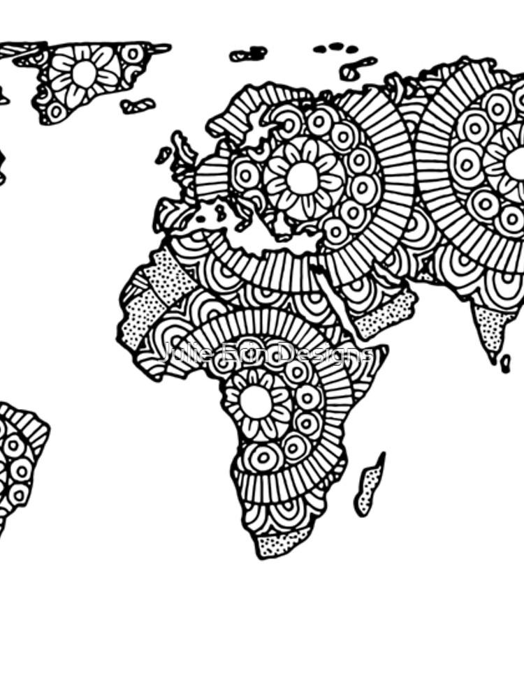 Mandala World Map by julieerindesign