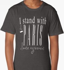 I Stand With The Paris Climate Agreement - Black Long T-Shirt