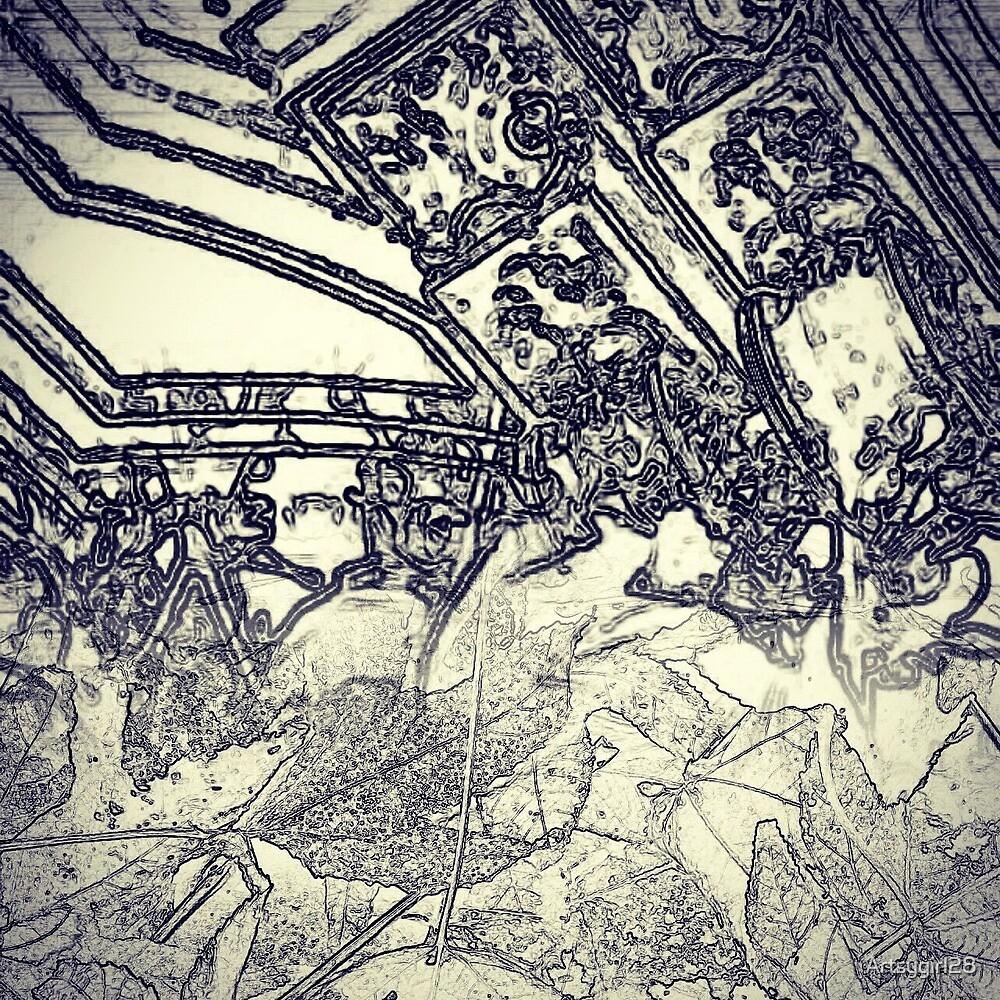 Blueprint & Leaves Aesthetic  by Artsygirl28