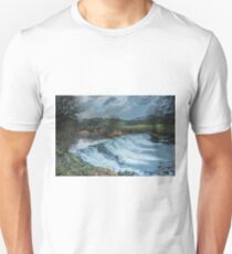 The Weir at Staveley, Cumbria Unisex T-Shirt