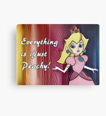 """Princess Peach """"Everything is Peachy"""" Metal Print"""