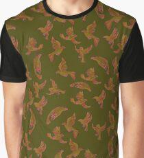 Chocolate Birds Graphic T-Shirt