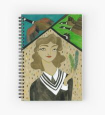 Girl with Canadian Geese Spiral Notebook