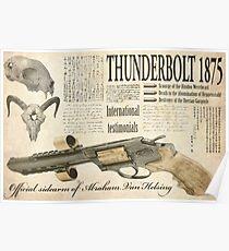 Steampunk:  Van Helsing'sThunderbolt 1875 Poster