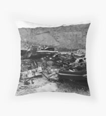 Discarded Throw Pillow
